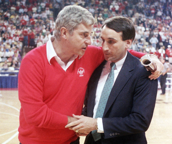 coach knight and coach k case Bobby knight, self: anger management robert montgomery bob knight (born october 25, 1940) is a retired american basketball coach nicknamed the general, knight.