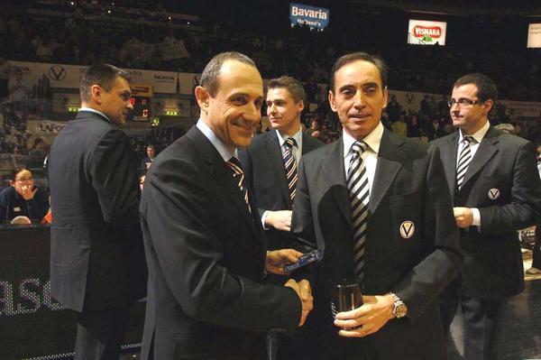 Ettore Messina (left) & Renato Pasquali (right) form the backbone of a strong 'coaching tree' historic Italian basketball club Virtus Bologna.