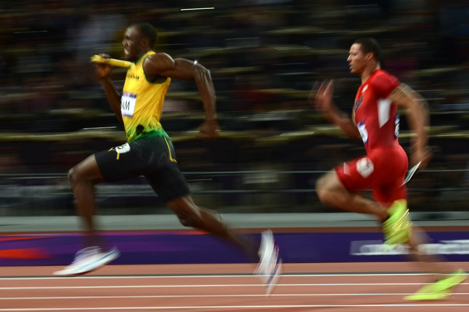 Pictured: Usain Bolt – Jamaican sprinter and a five-time World and three-time Olympic gold medalist. He is the world record and Olympic record holder in the 100 metres. (Photo credit: o.canada.com)