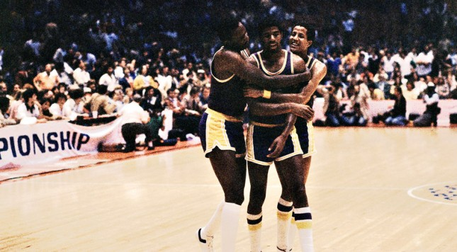 With Kareem Abdul-Jabbar sidelined by an ankle injury, boldly inserting rookie Magic Johnson into the line up was just the improvement that the Lakers needed to win the 1980 NBA Finals.