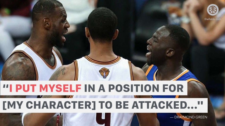 Draymond Green - Character attacked