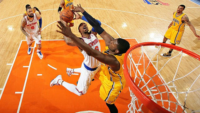 Roy Hibbert, while playing with the Indiana Pacers, became the NBA's poster child for defending with verticality.